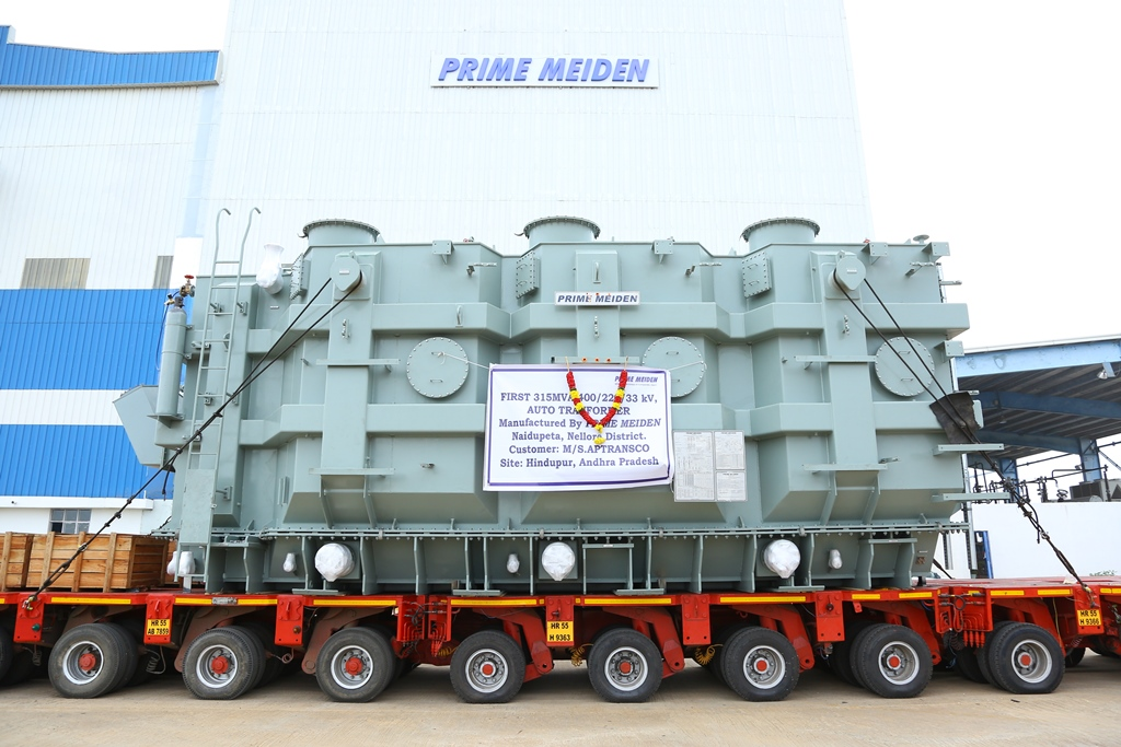Meidensha subsidiary delivers first 400kV transformers to